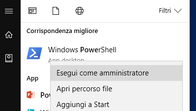 powershell come amministratore